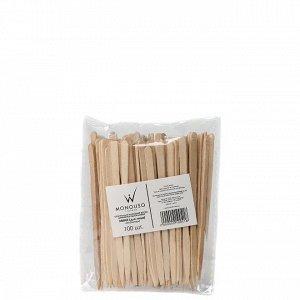 Шпатели одноразовые деревянные малые для лица 3х88 мм ItalWax  100 шт/уп
