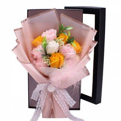 Большие скидки от поставщика 🏷 Заколки Э — Подарочные букеты из розы -мыло — Сувениры