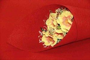 Фетр (светло-красный) 1мм (лист 40см * 45см) упак.5 листов