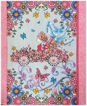 Р. Полотенце  50х63  Вафельное розовое
