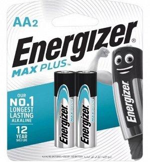ENERGIZER MAX Plus Набор батареек LR6/E91 AA FSB2, 2шт., пальчик.