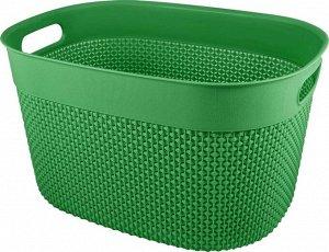 Корзина для хранения OSLO 12л, цв.бархатно-зеленый PT1352БЗ-14