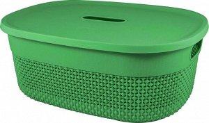 Корзина для хранения с крышкой OSLO 6л, цв.бархатно-зеленый PT1331БЗ-10