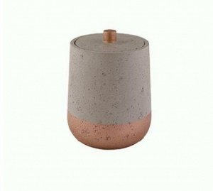 "AXENTIA ""Concrete"" Контейнер для ватных дисков 10х14,5см 131119"