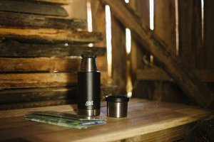 Термос Esbit MAJORIS VF750SC-BK, из нержавеющей стали с двойной крышкой, черный, 0.750 л