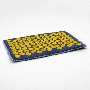 Аппликатор игольчатый «Коврик» на мягкой подложке, 85 колючек, синий, 25х40 см