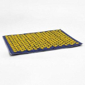 Аппликатор игольчатый «Большой коврик» на мягкой подложке, 242 колючки, синий, 41х60 см