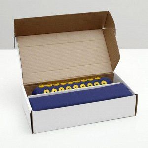 Комплект аппликаторов игольчатых, синий: «Коврик» на мягкой подложке, 242 колючки, 41х60 см + «Валик», 90 колючек, 38х10 см