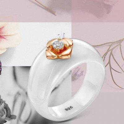 СЕРЕБРО РОССИИ! Огромный ассортимент💍 Лучший подарок 🎁 — Кольца керамические — Ювелирные кольца