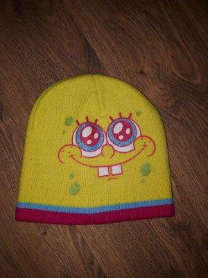 Шапка Двойная вязка. Яркая шапка с любимым персонажем, для яркой Весны