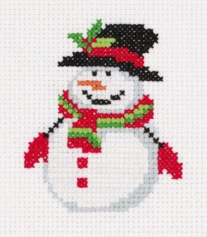 Набор для вышивания Кларт Снеговичок в шляпе 9*10,5см