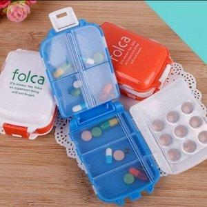 Таблетница Контейнер- для хранения лекарств и витаминов в течение недели в домашних условиях, на работе, в поездках, а также в условиях больниц и клиник.  Помогает избежать ошибок и упорядочить прием