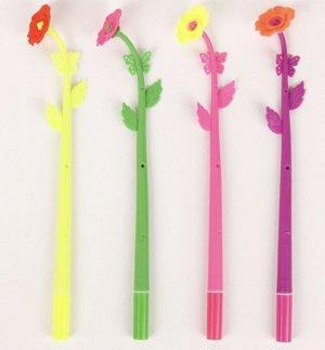 Ручка шариковая-прикол, «Цветок-Мак»
