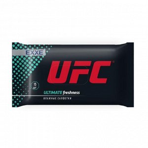 Влажные салфетки, UFC x EXXE Ultimate freshness 15шт