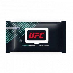 Влажные салфетки, UFC x EXXE Ultimate freshness 100шт (с пластик крышкой)