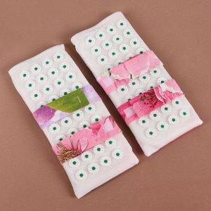 Ипликатор - коврик для ног, мягкий, 14 ? 32 см, пара, цвет МИКС