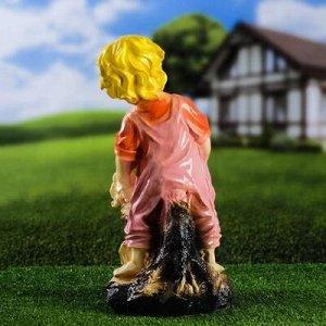 """Садовая фигура """"Мальчик с корзинкой"""", разноцветная, 37 см, микс"""