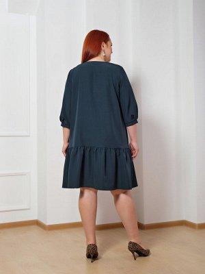 Платье 0176-1 темно-зеленый