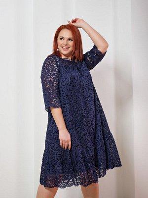 Платье 0028-8 темно-синий