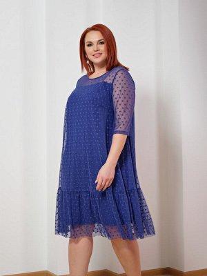 Платье 0028-8 синий