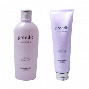 LEBEL Proedit Bounce Fit + - набор из шампуня и маски для сильно поврежденных волос