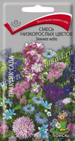 Смесь низкорослых цветов Зимнее небо ЦП