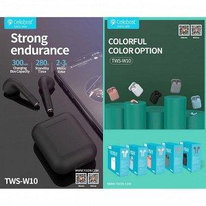 Наушники беспроводные Celebrat TWS-W10, арт.012280