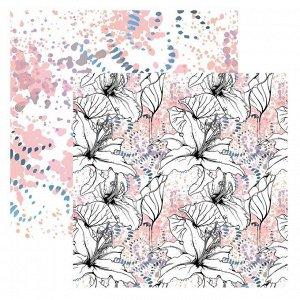 Набор бумаги для скрапбукинга «Цветочная геометрия», 18 листов, 30х30 см