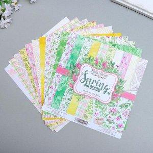 """Набор бумаги для скрапбукинга """"Spring blossom"""" 10 листов, 20х20 см"""