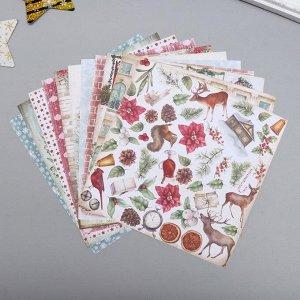"Набор бумаги для скрапбукинга ""Winter wonders"" 10 листов, 20х20 см"