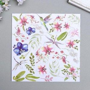 "Набор бумаги для скрапбукинга ""Tender orchid"" 10 листов, 20х20 см"