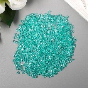 "Декор для творчества пластик ""Кристаллы морская волна"" набор 20 гр d=0,12 см"
