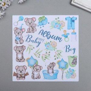 "Набор бумаги для скрапбукинга ""Puffy Fluffy Boy"" 10 листов, 20х20 см"