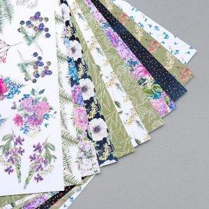 """Набор бумаги для скрапбукинга """"Night garden"""" 10 листов, 20х20 см"""