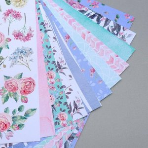 """Набор бумаги для скрапбукинга """"Mysterious garden"""" 10 листов, 20х20 см"""