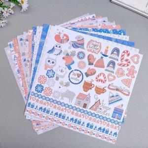 """Набор бумаги для скрапбукинга """"Huge Winter """" 10 листов, 30,5х30,5 см"""