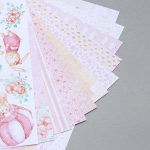 "Набор бумаги для скрапбукинга ""Dreamy baby girl"" 10 листов, 20х20 см"