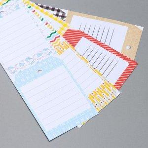 """Набор бумаги для скрапбукинга """"Backgrounds 6"""" 8 листов, 15х15 см"""