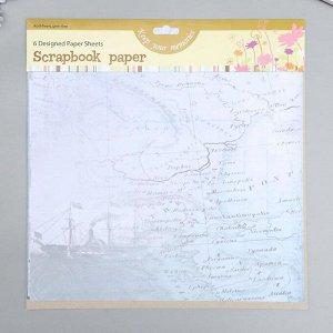 """Набор бумаги для скрапбукинга """"Fun Kingdom 2"""" 30,5х30,5 см, 6 листов, 160 г/м2"""