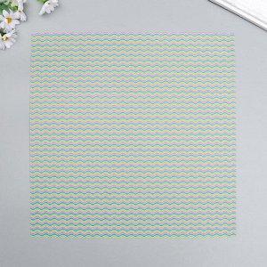 """Набор бумаги для скрапбукинга """"Волна 2"""" 30х30 см, 5 листов, 160 г/м2"""