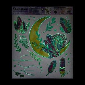 Наклейка виниловая  «Лунный свет», интерьерная, со светящимся слоем, 30 х 35 см