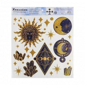 Наклейка виниловая «Тайные знаки». с блестками. 30 х 35 см