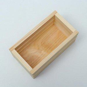 Кашпо деревянное 20?11?9 см, с двойной прорезью