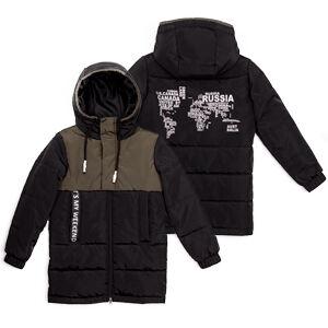 М 101007/1 (черный) Пальто для мальчика
