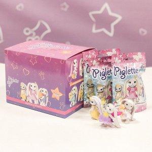ПИ PIGLETTE- коллекционная фигурка зайки (Собери все 9 шт ) (брак упаковки)