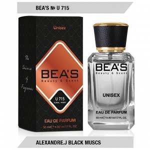 Beas U715 Alexandre J Black Muscs edp 50 ml