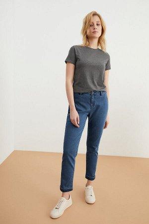 Брюки джинсовые жен. SAGA20 темно-голубой