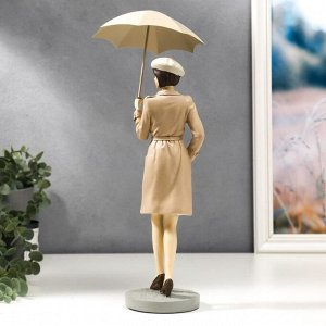 "Сувенир полистоун ""Девушка Нина под зонтом"" 38х14х14 см"