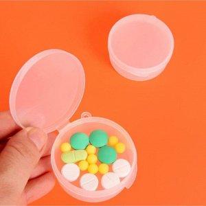 Таблетница, 1 секция, цвет прозрачный