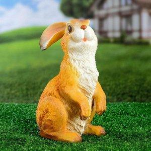 """Садовая фигура """"Кролик ушки вниз"""" 24х15см"""
